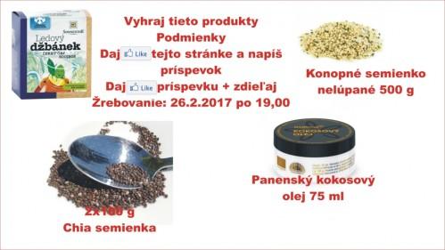 Súťaž o 4 bioprodukty